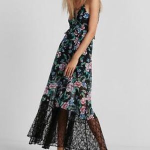 Express floral lace detail maxi dress NEW